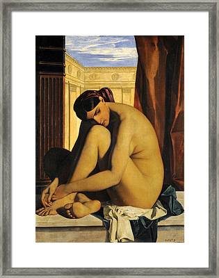 In The Bath Framed Print