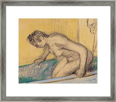 In The Bath Framed Print by Edgar Degas