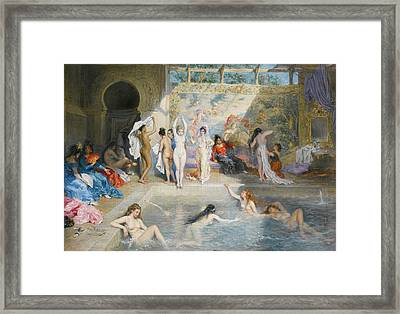 In The Baths Framed Print