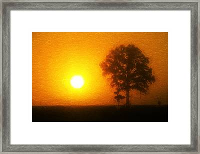 In The Beginning Framed Print by Dan Sproul