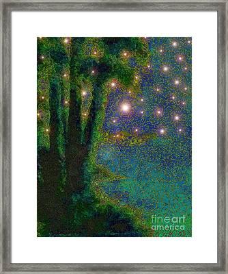 In The Beginning God... Framed Print