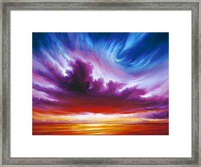 In The Beginning Framed Print by James Christopher Hill