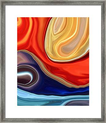 In The Beginning Framed Print by Linnea Tober