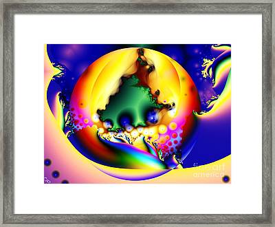 In The Beginning Framed Print by Ron Bissett