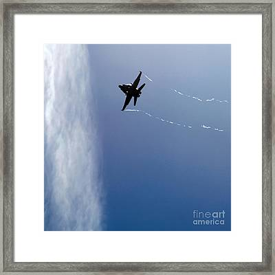 In The Blue Framed Print