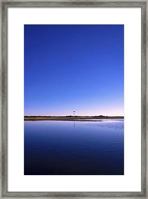 In The Blue Framed Print