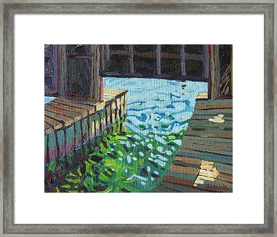 In The Boathouse Framed Print by Phil Chadwick