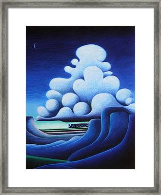 Framed Print featuring the mixed media In The Breath Of Night by Richard Dennis