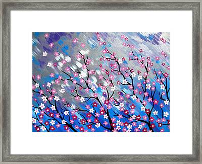 In The Breeze Framed Print by Cathy Jacobs