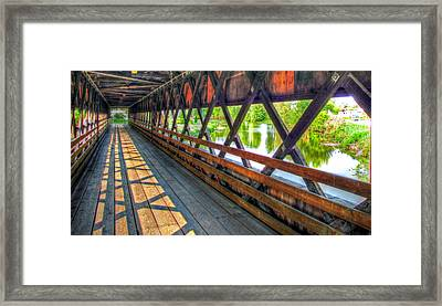 In The Bridge Framed Print by Jackie Novak