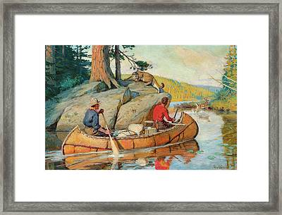 In The Canoe Framed Print by Philip R Goodwin