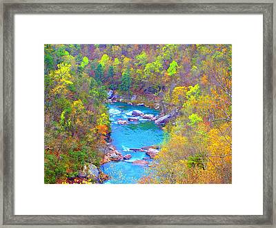In The Canyon Framed Print by Judy  Waller