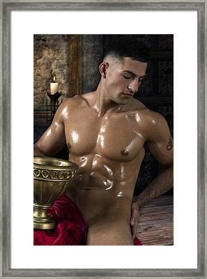 Dionysus In The Olympus  Framed Print
