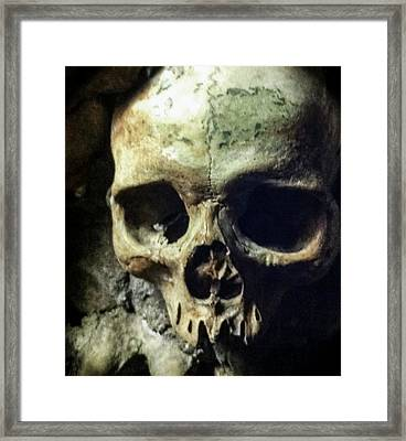 In The Catacombs Framed Print
