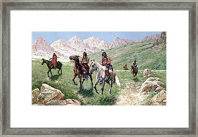 In The Cheyenne Country Framed Print by John Hauser