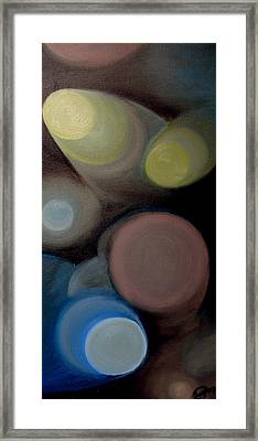 Framed Print featuring the painting In The Circles Of The Light by Saad Hasnain