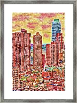 Framed Print featuring the photograph In The City by Barbara Manis