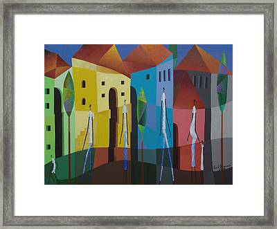 In The City Framed Print by Fred Thomas