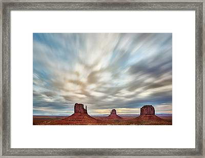 Framed Print featuring the photograph In The Clouds by Jon Glaser