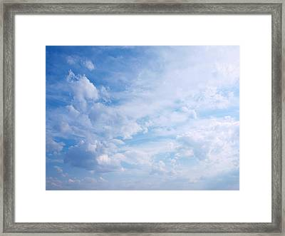 In The Clouds...cloudscape Framed Print