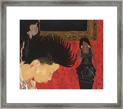 In The Club Framed Print by Rishanna Finney