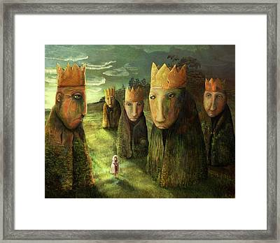 In The Company Of Kings Framed Print by Catherine Swenson