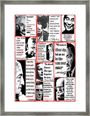 In The Company Of Wise Men Framed Print by Theodora Brown
