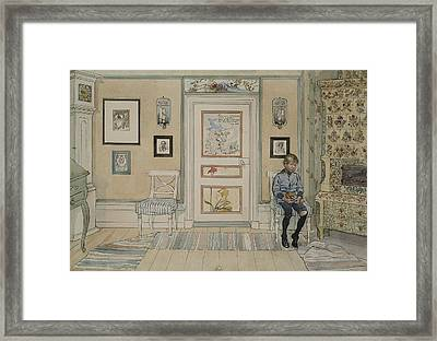 In The Corner. From A Home Framed Print by Carl Larsson