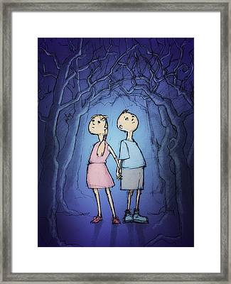 In The Darkling Wood Framed Print by H James Hoff