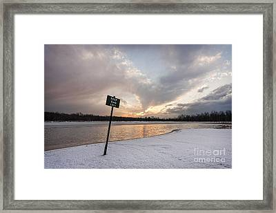 In The Deep End Framed Print