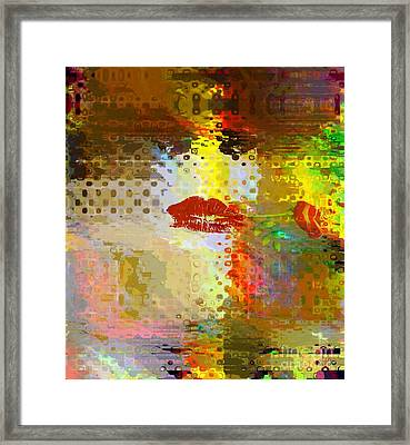 In The Depth Of Winter - I Give A Rose To Myself Framed Print