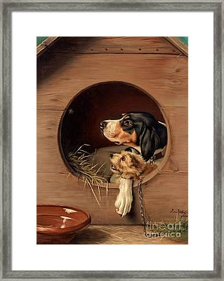 In The Doghouse Framed Print