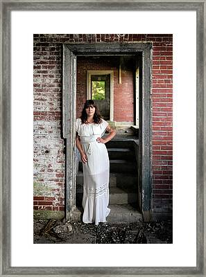 Framed Print featuring the photograph In The Doorway by Rick Berk
