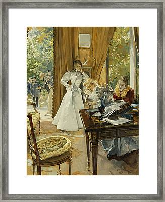 In The Drawing Room Framed Print by Ludek Marold