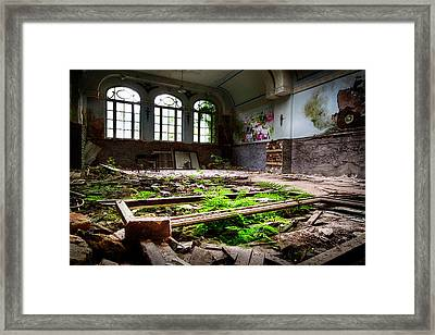 In The End Nature Always Wins - Urbex Abandoned Building Framed Print