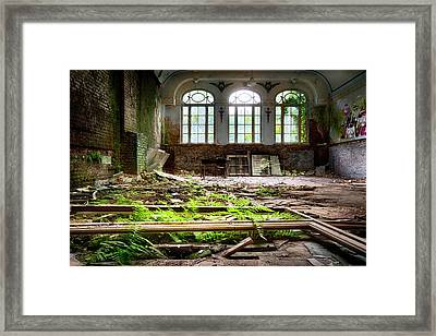 In The End Nature Always Wins - Urbex Abandoned Hotel Framed Print