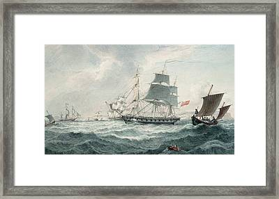 In The English Channel Framed Print by Joseph Cartwright