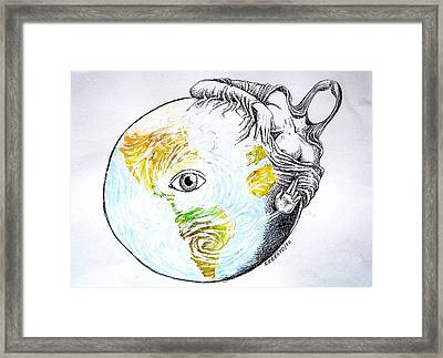 In The Eye Of The Hurricane Framed Print by Paulo Zerbato