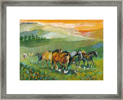 In The Field Framed Print by Mary Armstrong