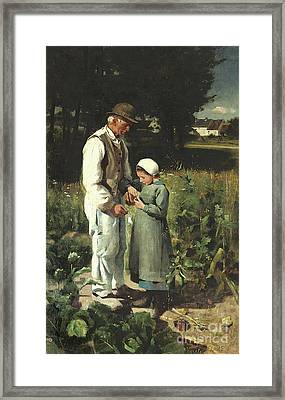 In The Fields, Anvers Sur Oise, 1882 Framed Print