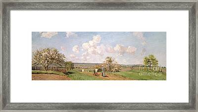 In The Fields Framed Print by Camille Pissarro