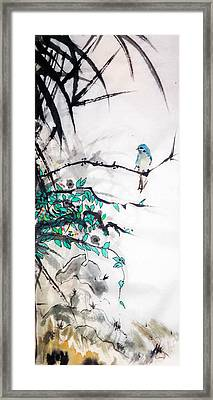 In The Foliage Framed Print