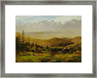 In The Foothills Of The Rockies Framed Print by Albert Bierstadt