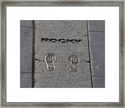In The Footsteps Of Rocky Framed Print by Bill Cannon