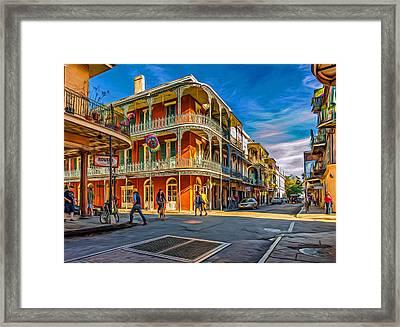 In The French Quarter - 2 Paint Framed Print by Steve Harrington