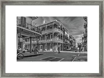 In The French Quarter - 3 Bw Framed Print by Steve Harrington