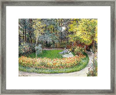 In The Garden, 1875 Framed Print by Claude Monet