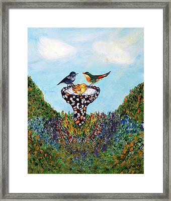 In The Garden Framed Print by Ann Ingham