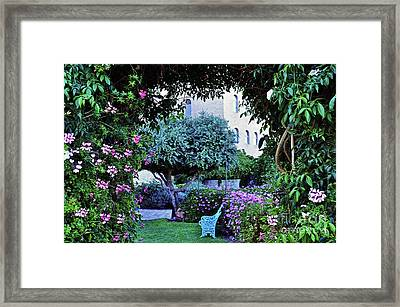 In The Garden At Mount Zion Hotel  Framed Print