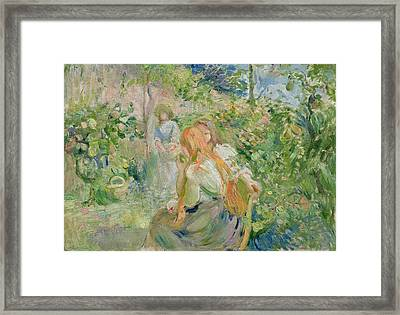 In The Garden At Roche Plate Framed Print